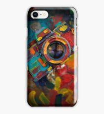 oil paint retro camera iPhone Case/Skin