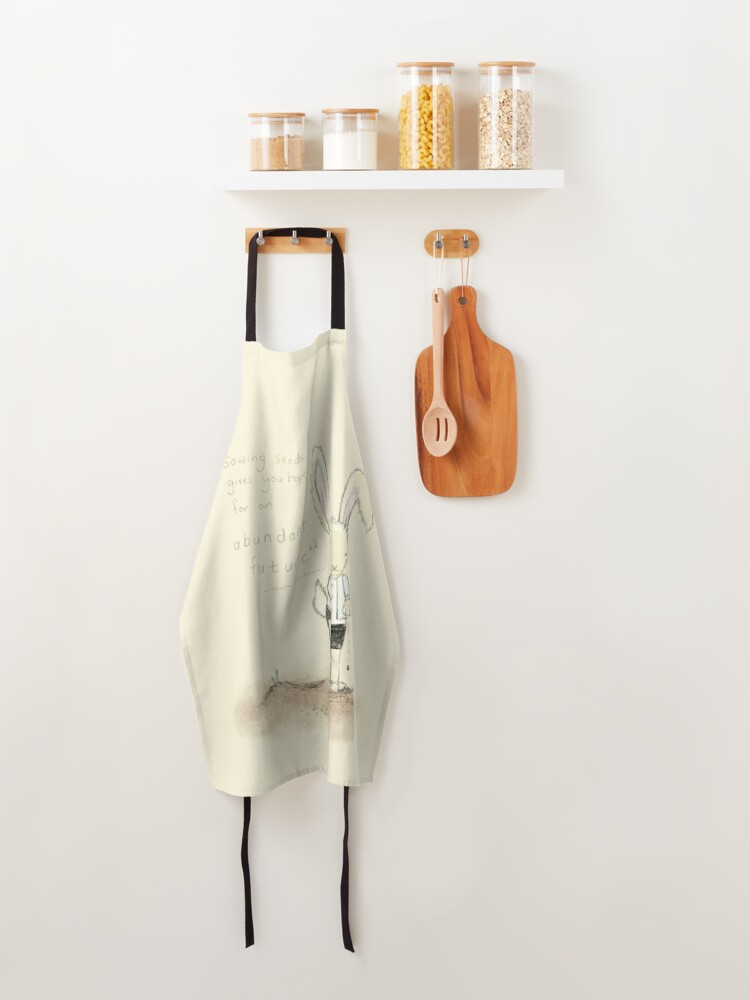 Alternate view of Growing Food Abundance Quote Apron