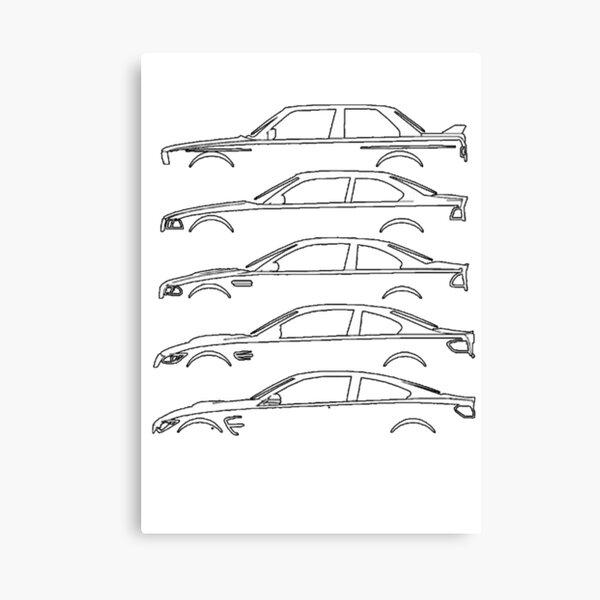 CAR E30 MOTORSPORT SERIES Canvas Print