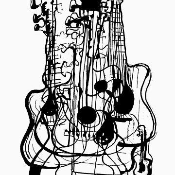 Black Guitar line by Stuarty
