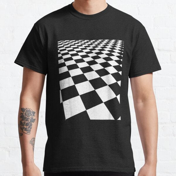 Checkers Board Top   Checkerboard for Boardgames Lovers  Classic T-Shirt