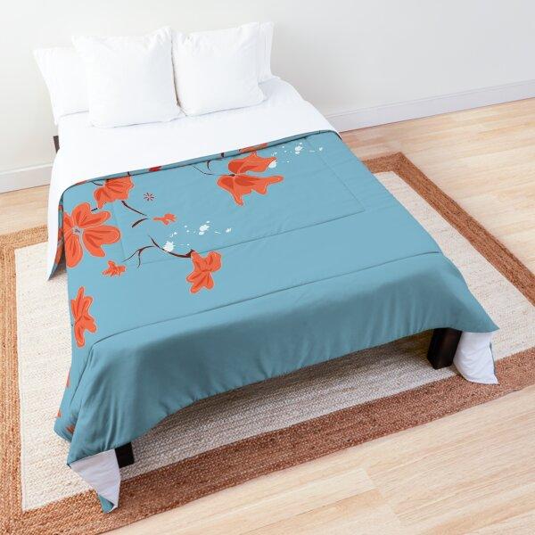 Autumn Cherry Blossom Comforter