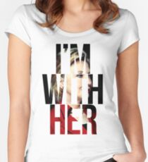 I'm With Her Hillary Clinton  Women's Fitted Scoop T-Shirt