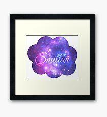 Smillan (Starry Font) Framed Print
