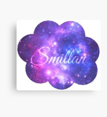 Smillan (Starry Font) Canvas Print