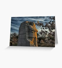 MLK Memorial Cherry Blossoms Greeting Card