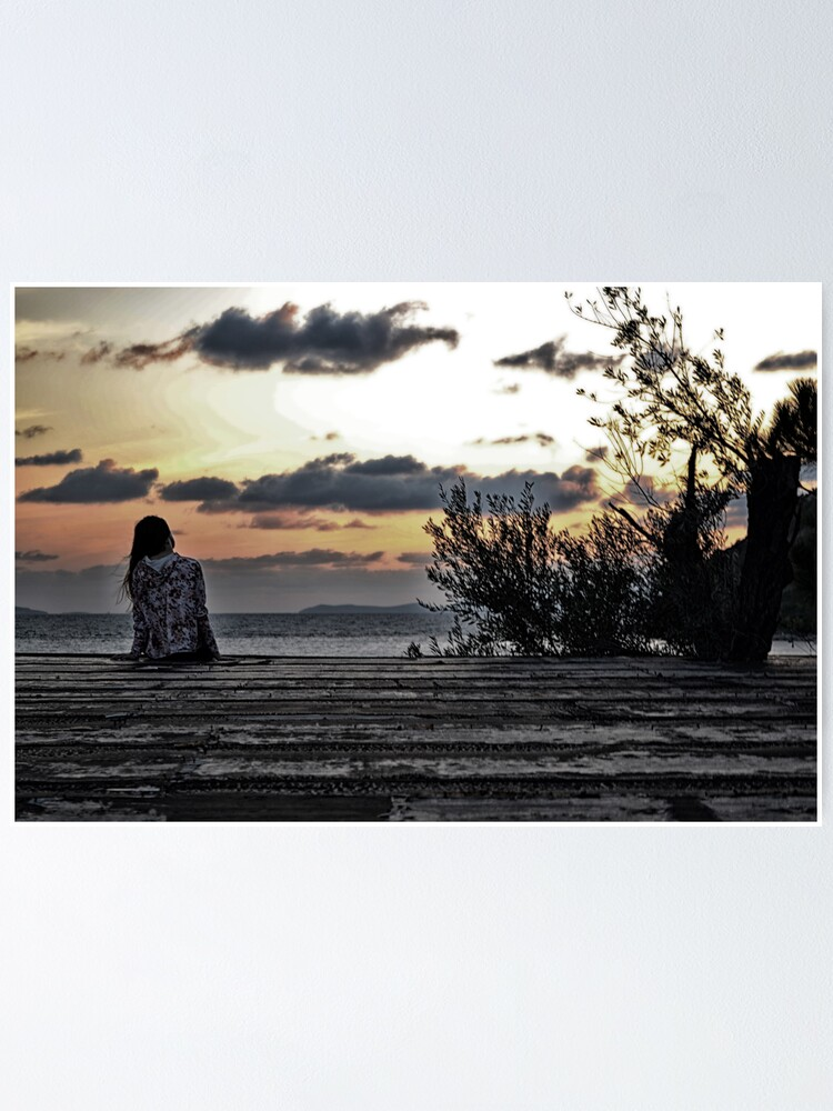 """lonely%20girl""""%20Poster%20by%20gzmguvenc89%20