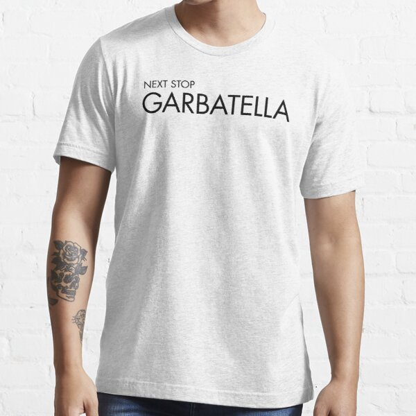 Next Stop Garbatella Black Text Essential T-Shirt