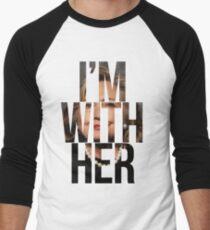 I'm With Her Hillary Clinton 2  Men's Baseball ¾ T-Shirt