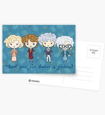 thank you for being a friend Postcards