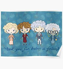 thank you for being a friend Poster