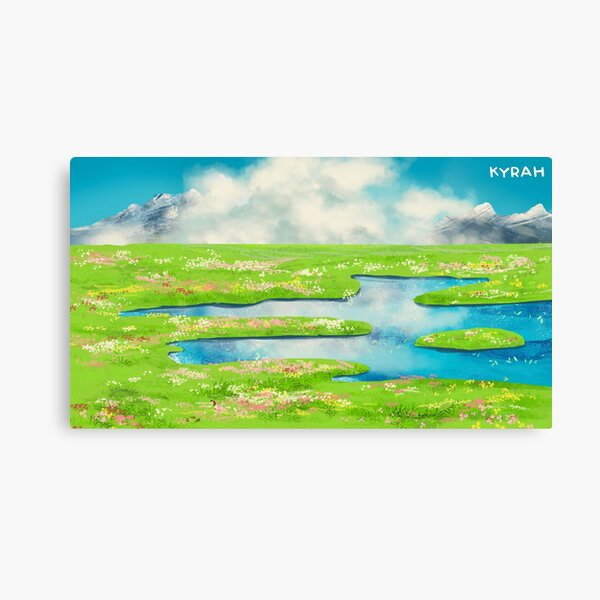 Howl's Moving Castle Landscape Canvas Print