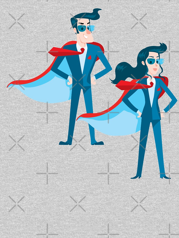 man and a woman super hero pair by duxpavlic