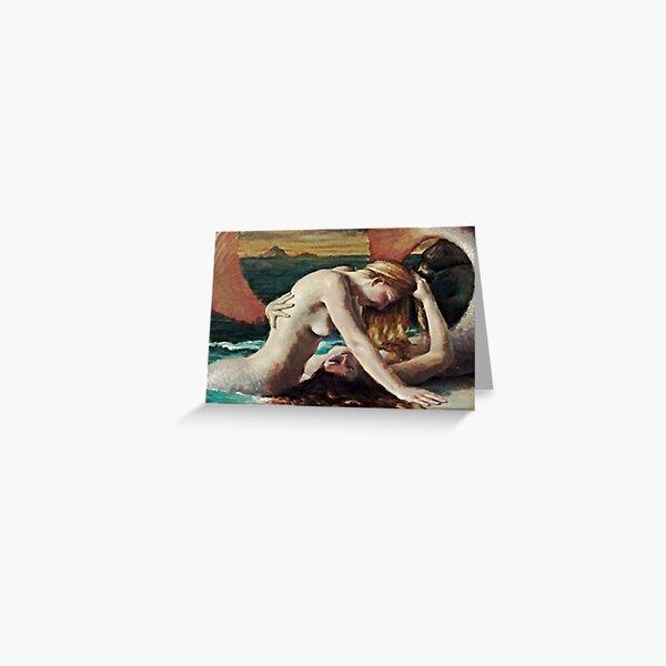 The Mermaid Lovers Greeting Card