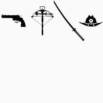 Gun, Crossbow, Sword and Hat by EmpireGraphics