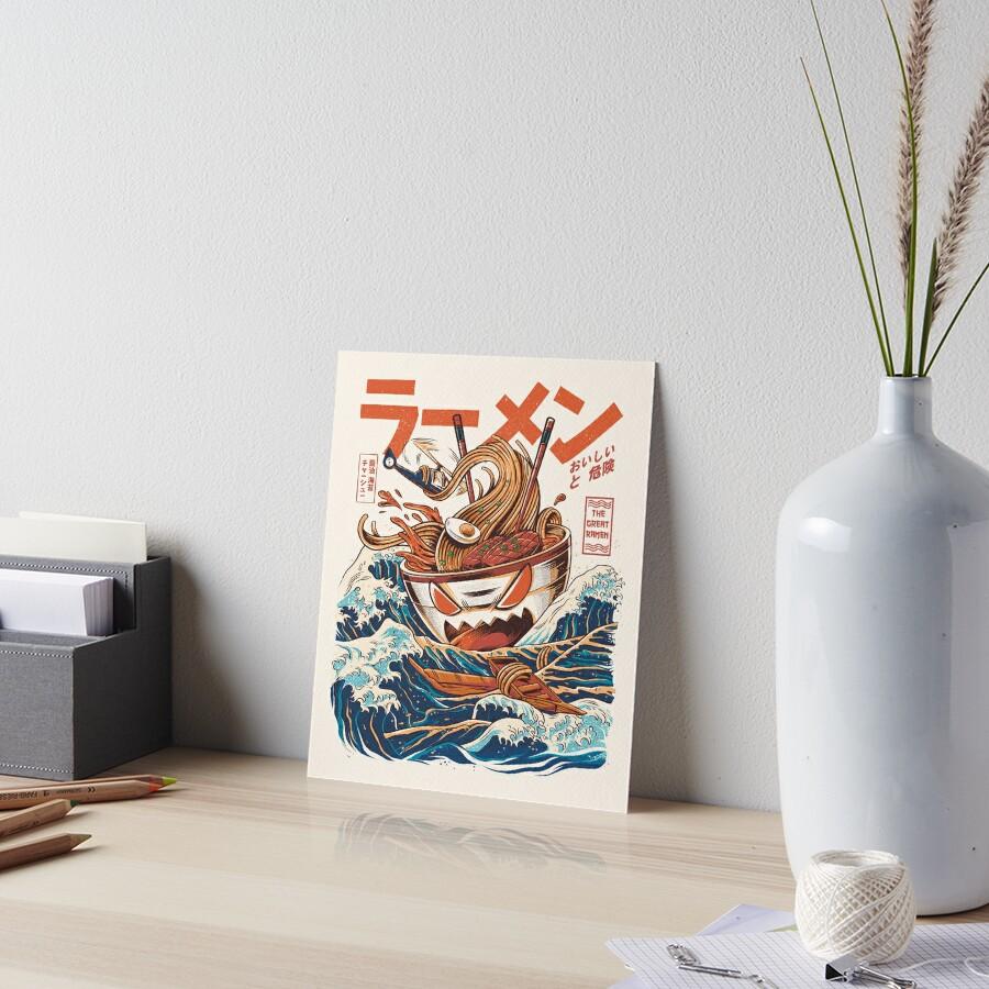 The Great Ramen off Kanagawa Art Board Print