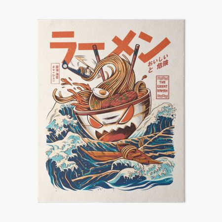 The Great Ramen off Kanagawa Art Board Print