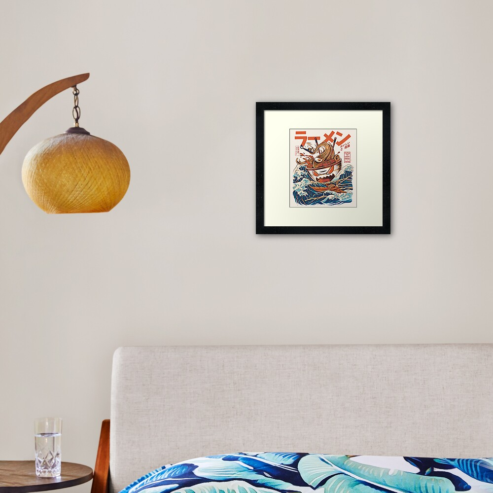 The Great Ramen off Kanagawa Framed Art Print