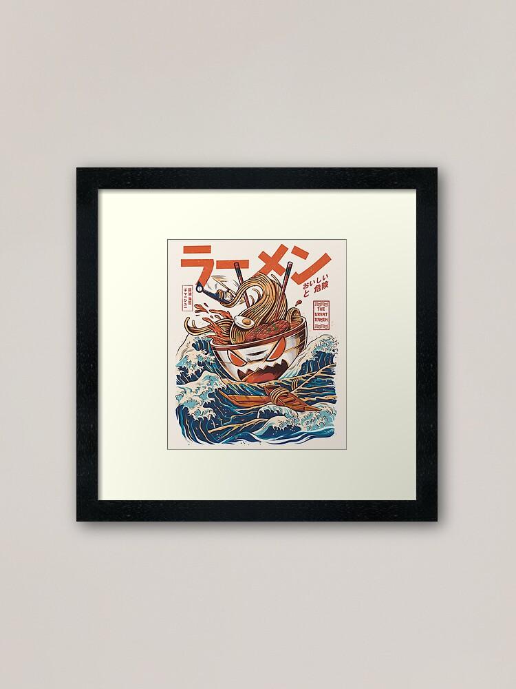 Alternate view of The Great Ramen off Kanagawa Framed Art Print