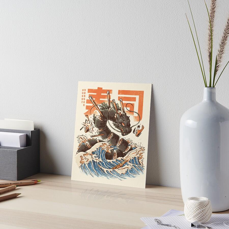 Great Sushi Dragon  Art Board Print