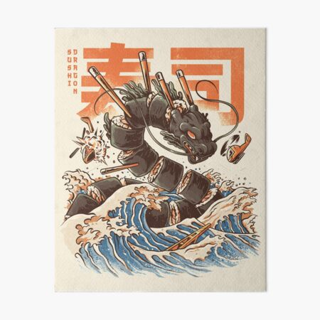Great Sushi Dragon  Art Board Print
