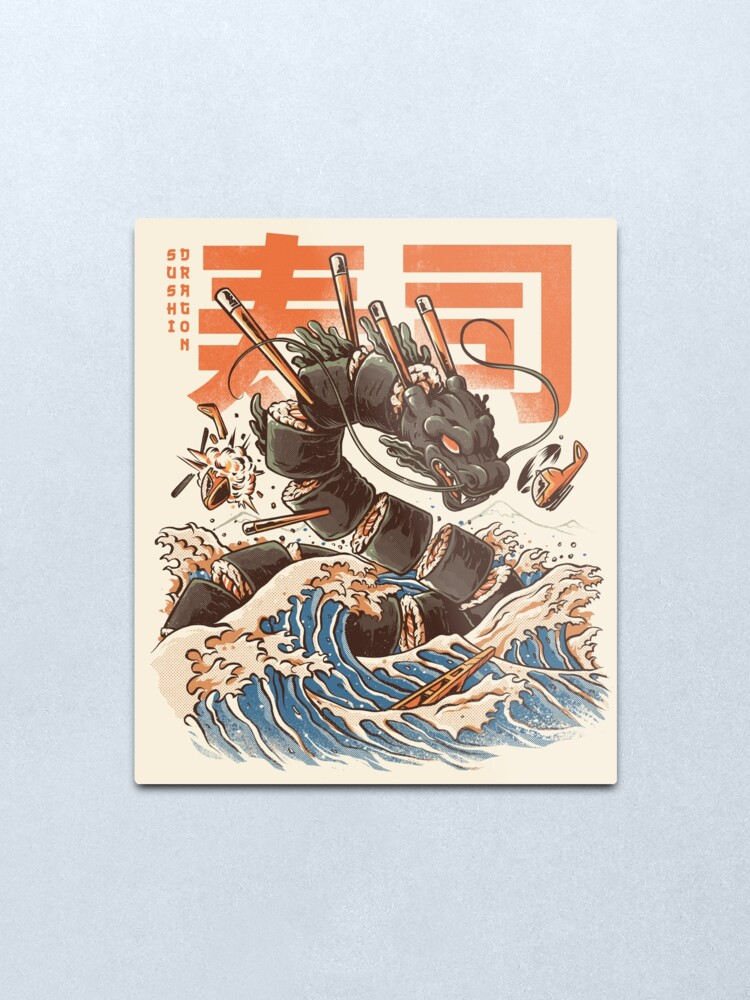 Alternate view of Great Sushi Dragon  Metal Print
