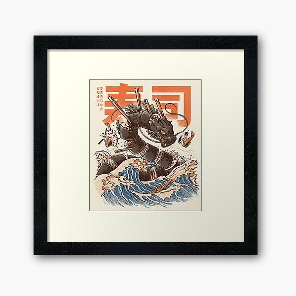 Le grand dragon à sushi! Impression encadrée
