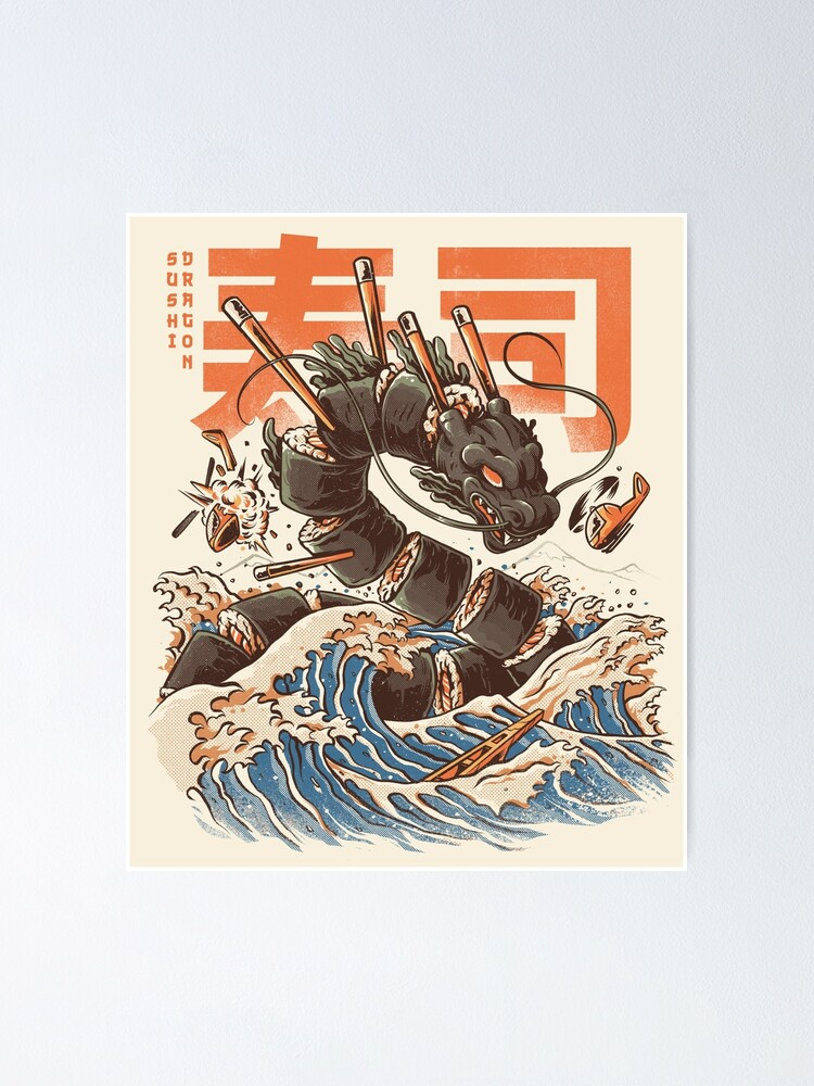 Alternate view of Great Sushi Dragon  Poster