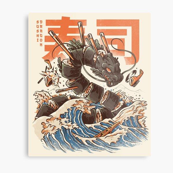 Le grand dragon à sushi! Impression métallique