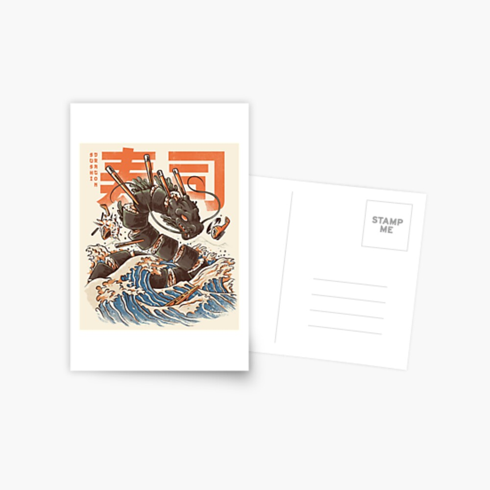 Great Sushi Dragon  Postcard