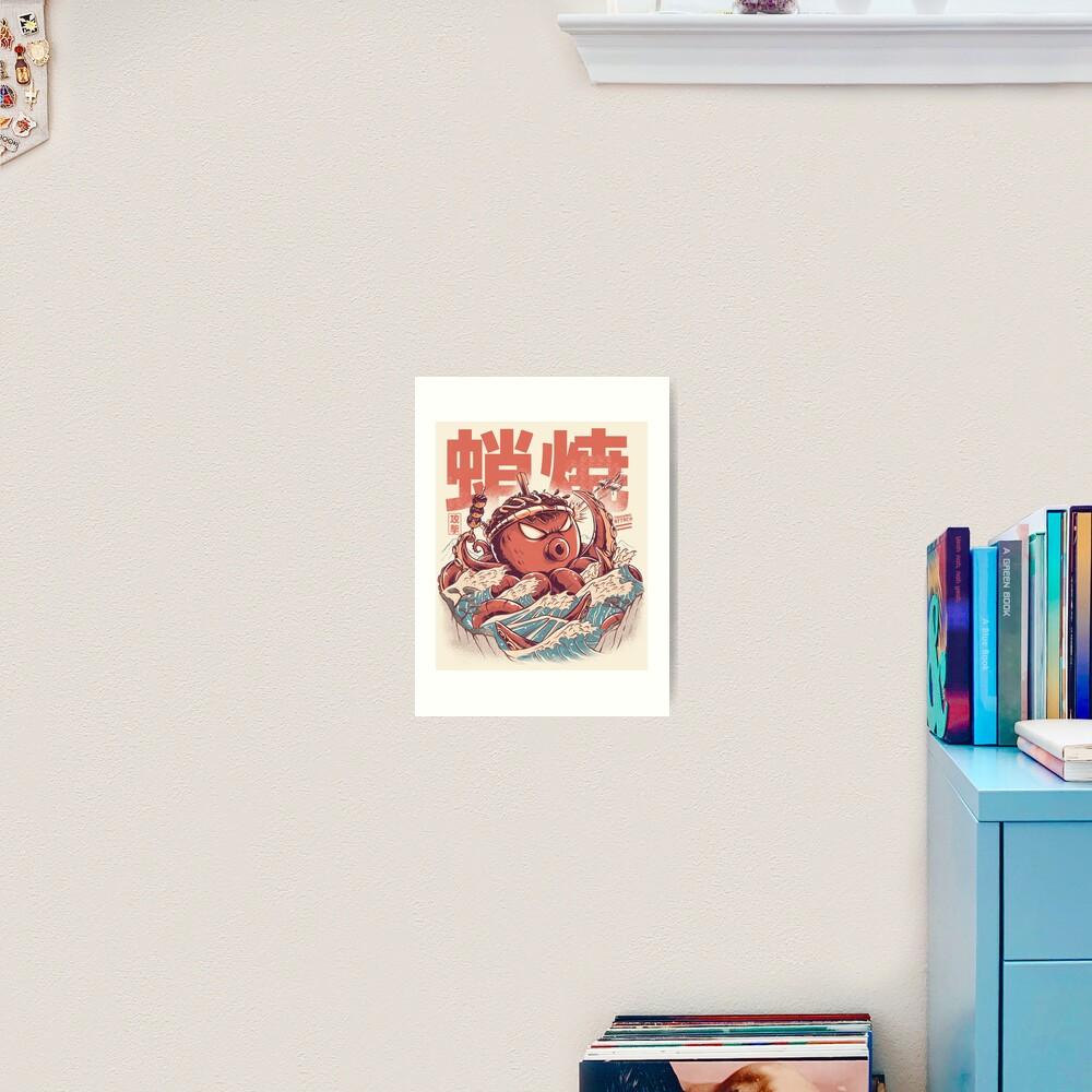 Takoyaki Attack Art Print