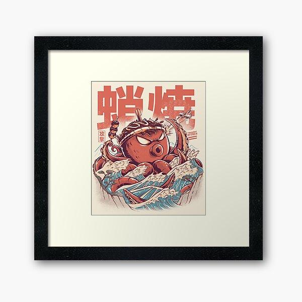 Takoyaki Attack Framed Art Print