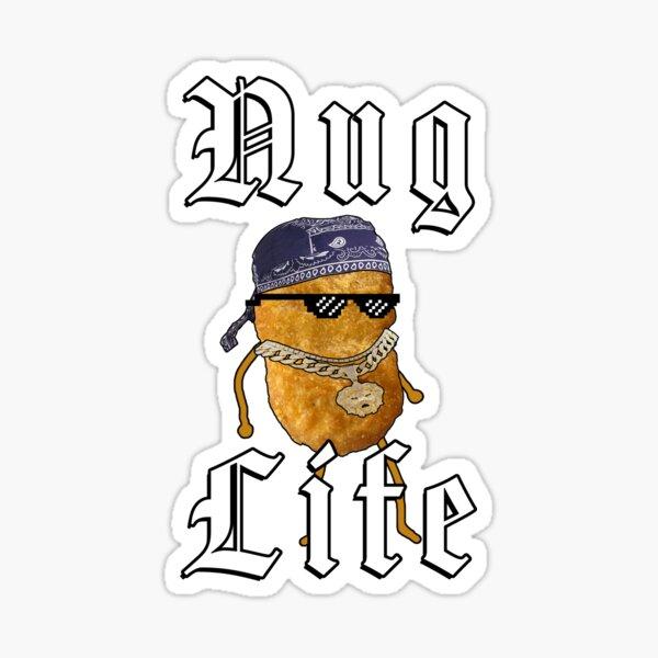 Nug Life Gangster Chicken Nugget Sticker