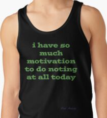 Camisetas de tirantes para hombre SO MUCH MOTIVATION TO DO NOTHING TODAY