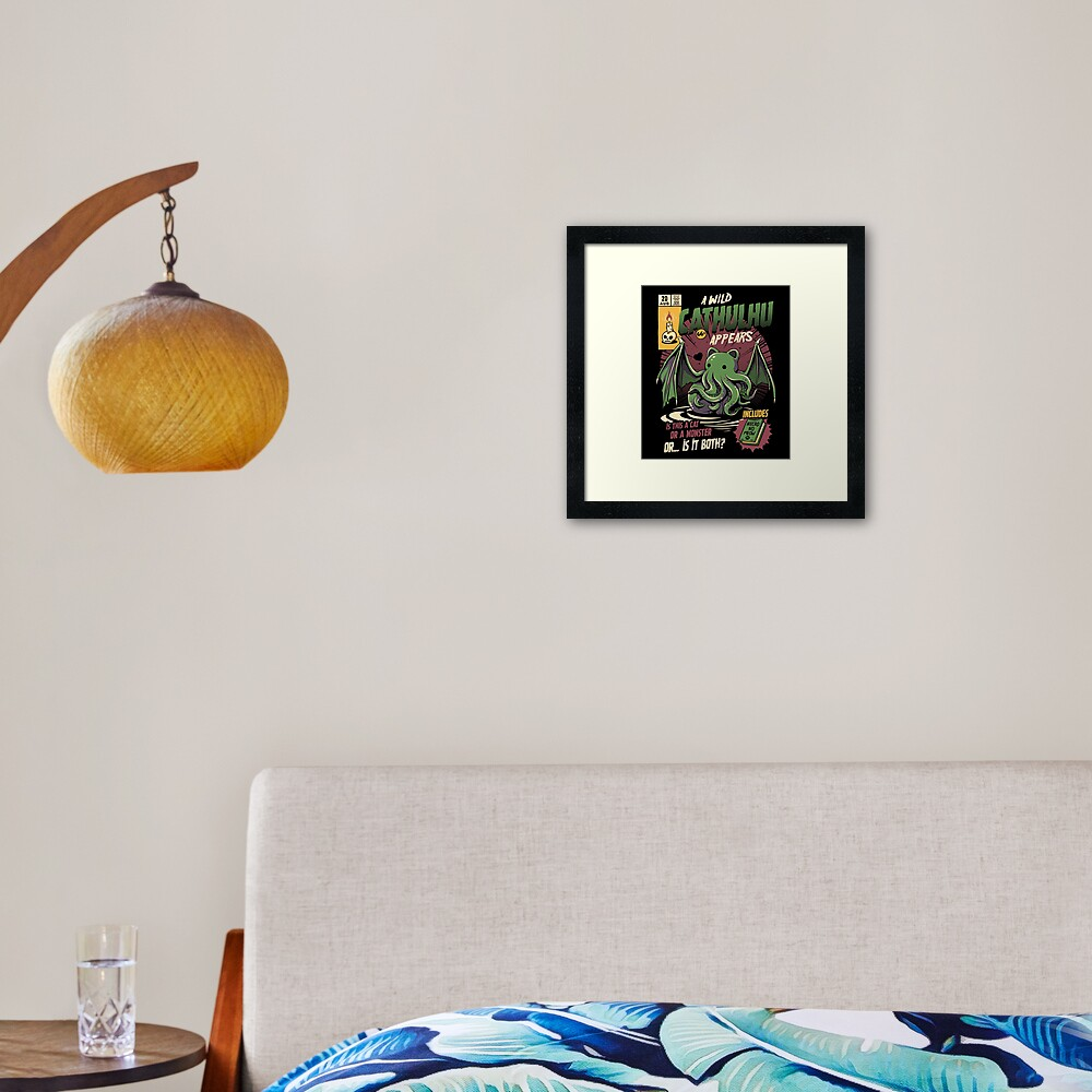 Cathulhu Framed Art Print