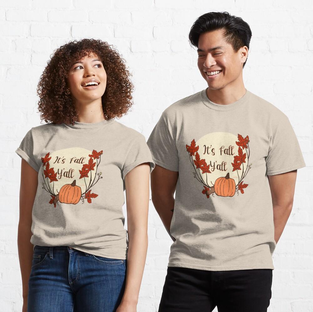 It's Fall Y'all! Pumpkin, acorn, maple leaves Classic T-Shirt