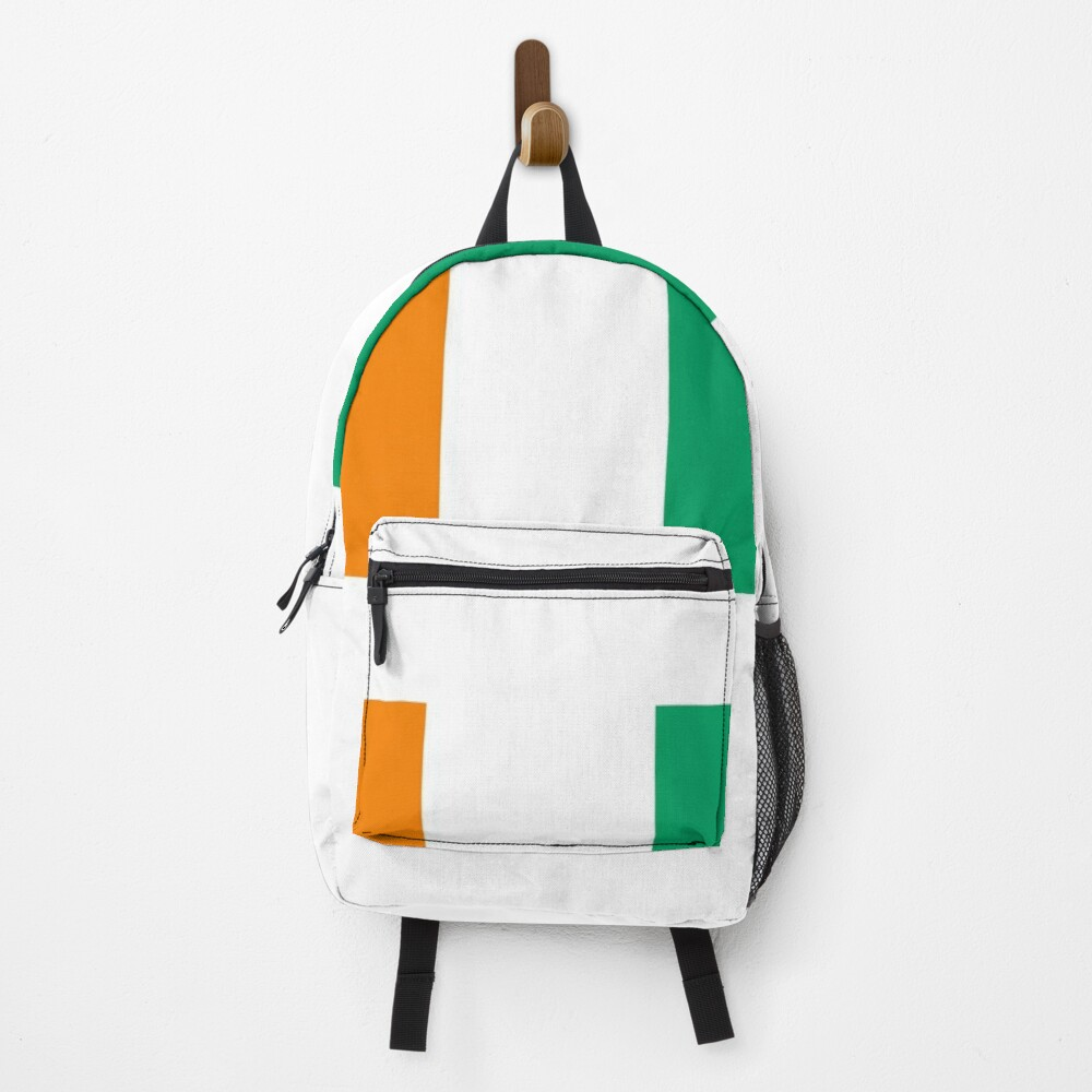 Superb Flag of Cote d'Ivoire and its orange, white and green colors. Backpack