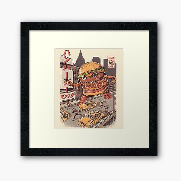 BurgerZilla Framed Art Print