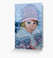 """Freezing flowers"" Greeting Card"