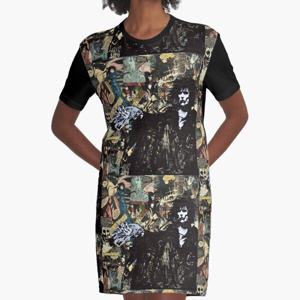 Sandman Collage Graphic T-Shirt Dress