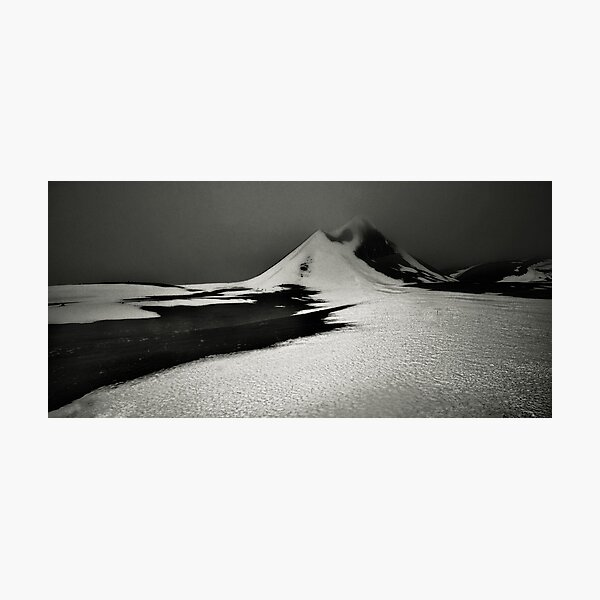 Snow, Ice and Mountains Photographic Print