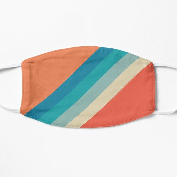 Motif décoratif rayures rétro orange turquoise Masque sans plis