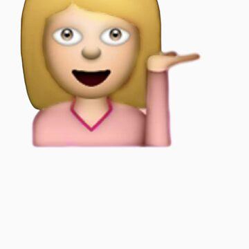 Blonde Hair Toss Emoji  by ChloeHebert