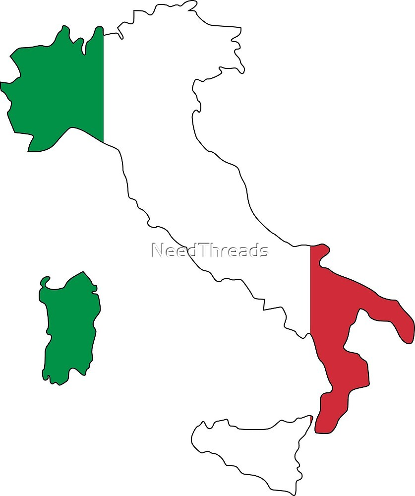 Italy Flag Map by NeedThreads