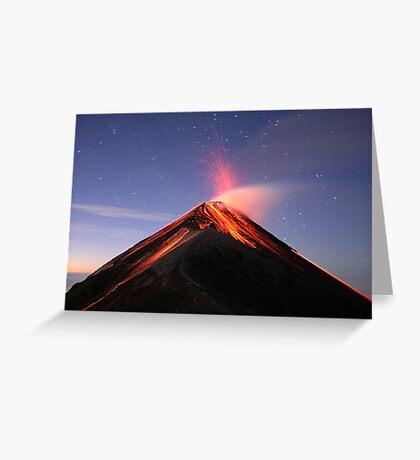 Fuego Erupts at Sunrise Greeting Card