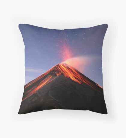 Fuego Erupts at Sunrise Throw Pillow