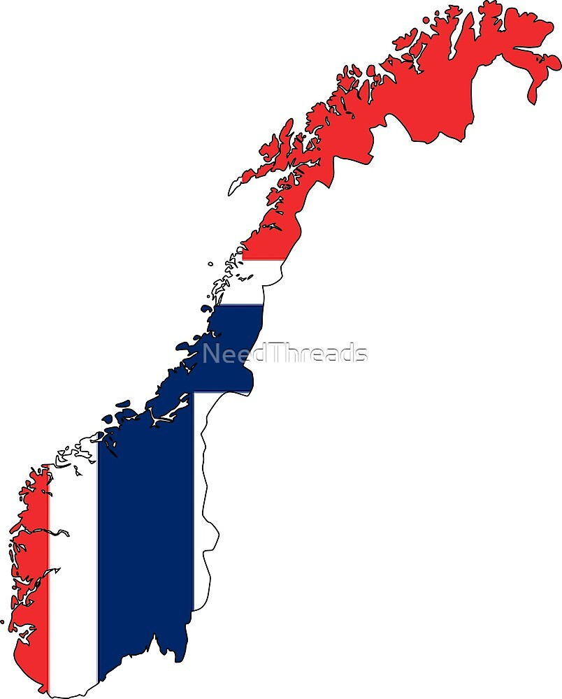 Norway Flag Map by NeedThreads