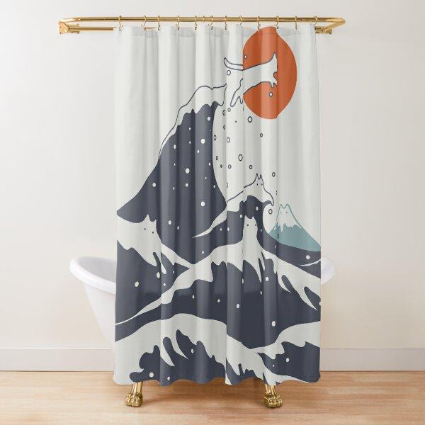 Cat Landscape 55C Shower Curtain