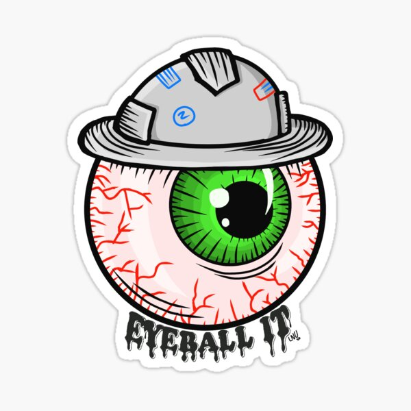 Eyeball it sticker Sticker