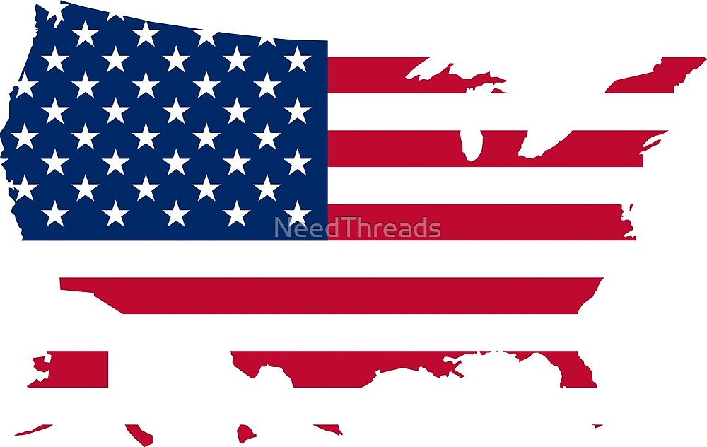 American Flag Map by NeedThreads